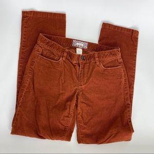 J. Crew Matchstick Corduroy Straight Leg 30S Jean